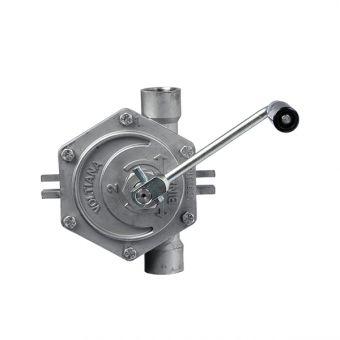 Pompe manuelle rotative en inox 316 L réversible, référence RI2