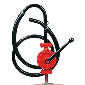 Pompe manuelle semi-rotative équipée tuyau pvc souple, référence FEZ1RS, FEZ2T