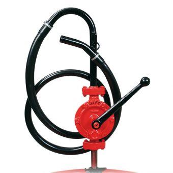 Pompe manuelle semi-rotative équipée tuyau pvc souple, référence FHT0, FHT1, FHT2, FHT3T