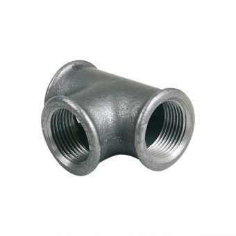 Té fonte noir - 130 pour pompe